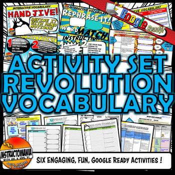 American Revolution Vocabulary Set Mini Bundle