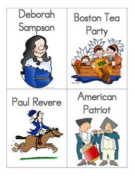 American Revolution Vocabulary Word Wall Word Cards for Core Knowledge FREEBIE