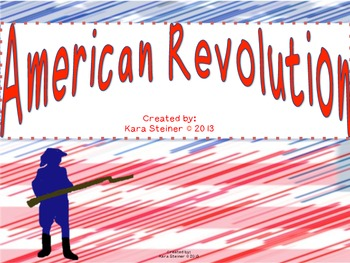 American Revolution War Bundle Pack: Social Studies Unit