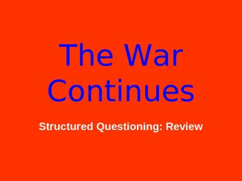 American Revolution: War Continues 1777-1778 PowerPoint Review