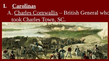 American Revolution - War in the South - PowerPoint