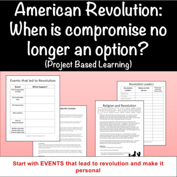 American Revolution: When is compromise no longer an option? (PBL)