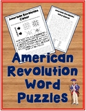 American Revolution Word Puzzles