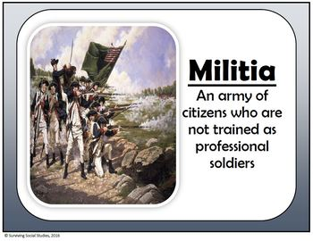 American Revolution Word Wall - 100 Terms/People - Definitions and Images