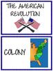 American Revolution Word Wall- Revolutionary War, U.S. History