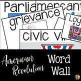 American Revolution  Word Wall Terms