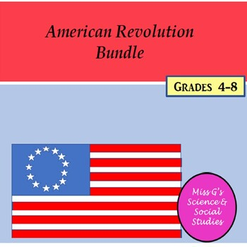 American Revolution Worksheet Bundle
