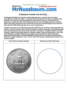 American Revolution World of Printables from MrNussbaum