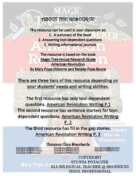 American Revolution Writing P. 1