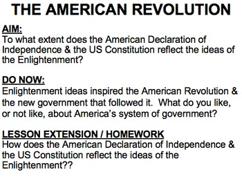 American Revolution (and how it resulted from the Enlightenment)