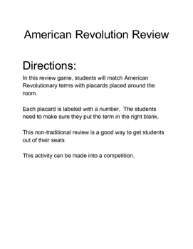 American Revolution - Printable Documents Bundle