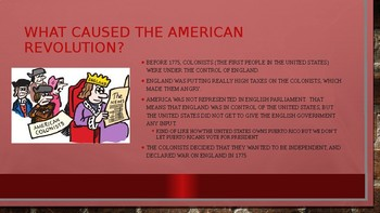 American Revolution for English Learners