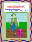 American Revolution in Pictures for Special Ed, ESL and EL