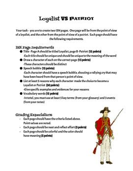 American Revolution mini-project