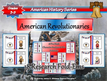 American Revolutionaries Research Fold-Ems