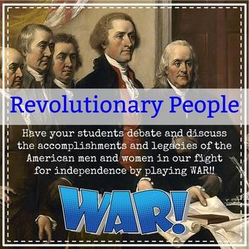 American Revolutionary People: WAR! Game