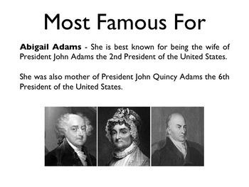 American Revolutionary War - Abigail Adams PowerPoint