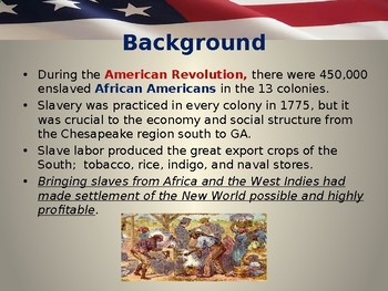 American Revolutionary  War - African Americans in the Revolutionary Period