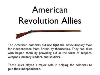 American Revolutionary War - American Allies PowerPoint