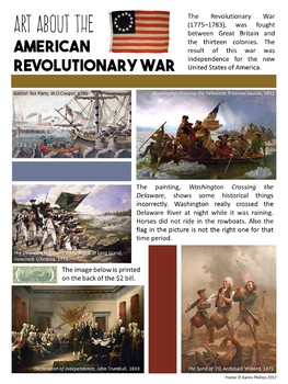 American Revolutionary War Art Poster
