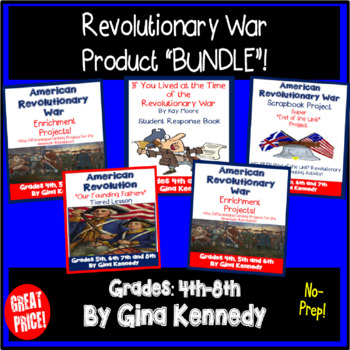 American Revolutionary War Projects, Book Reports, Timelines and More! BUNDLE
