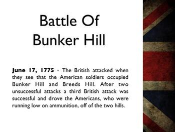 American Revolutionary War - Battle Of Bunker Hill PowerPoint