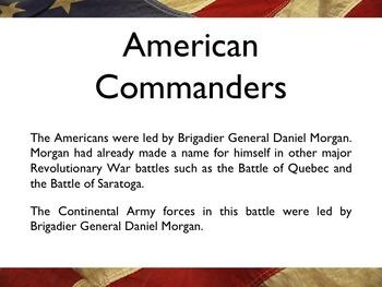 American Revolutionary War - Battle Of Cowpens PowerPoint