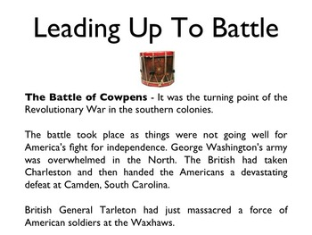 American Revolutionary War - Battle Of Cowpens PowerPoint