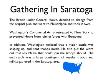 American Revolutionary War - Battle Of Saratoga PowerPoint