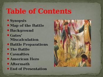 American Revolutionary War - Battle of Camden - 1780