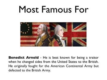 American Revolutionary War - Benedict Arnold PowerPoint