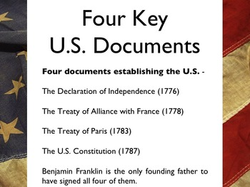 American Revolutionary War - Benjamin Franklin PowerPoint