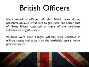 American Revolutionary War - British Generals & Military Leaders PowerPoint