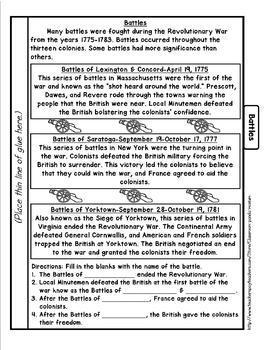 American Revolutionary War Bundle (Task Cards Included)