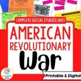 American Revolutionary War Unit   Printable & Digital   Distance Learning