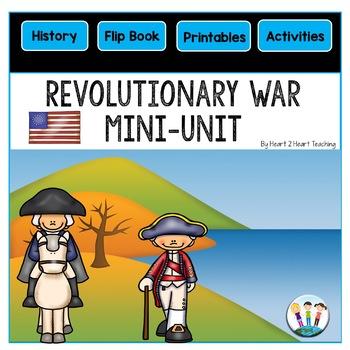 American Revolution | Revolutionary War FlipBook | American Revolution Mini-Unit