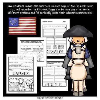 American Revolution   Revolutionary War FlipBook   American Revolution Mini-Unit