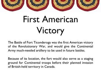 American Revolutionary War - Fort Ticonderoga PowerPoint
