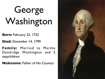 American Revolutionary War - George Washington PowerPoint