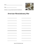 American Revolutionary War - How Many Words Can You Make?