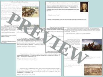 Revolutionary War Activities Mini Bundle