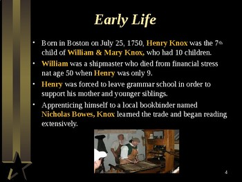 American Revolutionary War - Key Figures - Henry Knox