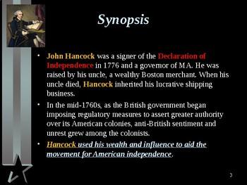American Revolutionary War - Key Figures - John Hancock