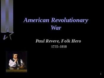 American Revolutionary War - Key Figures - Paul Revere