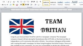 American Revolutionary War Newspaper - British Cover Sheet