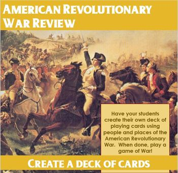 American Revolutionary War Playing Card Project