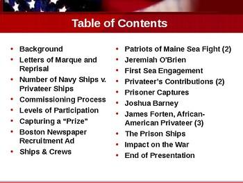 American Revolutionary War - Privateers & Mariners