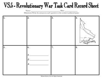 American Revolutionary War SCOOT / Task Cards (VS.5)