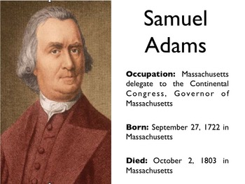 American Revolutionary War - Samuel Adams PowerPoint