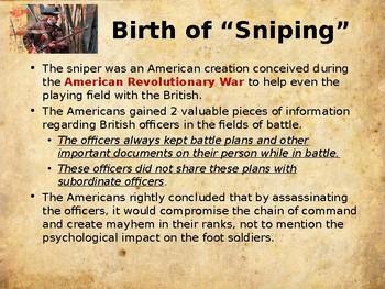 American Revolutionary War - Snipers & Assassins